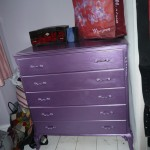 Purple chest of drawers