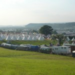 The view from above the tipi field