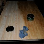 Waxing the table