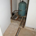 The floor by the airing cupboard
