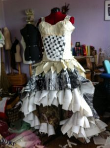 how to make a dress with books