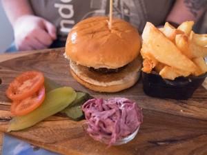 Burger at the Kingsdon Inn