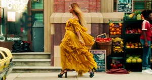 Beyonce in Oshun dress