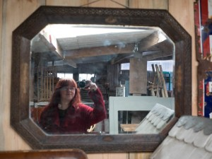 Reclamation yard mirror