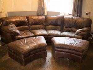 Leather settee for free