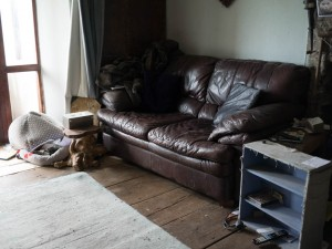 Smaller settee in its new place