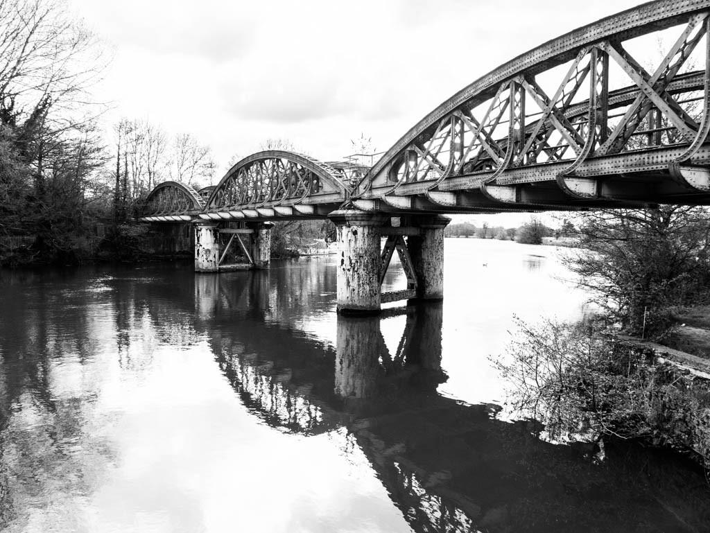 Old iron railway bridge near Kennington