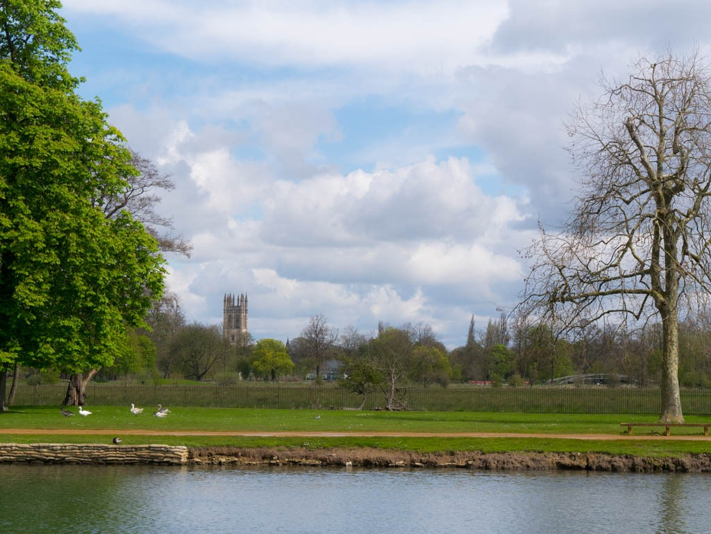 View of Oxford on the Thames Path