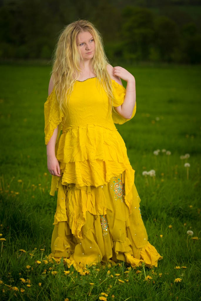 Oshun yellow maxi dress