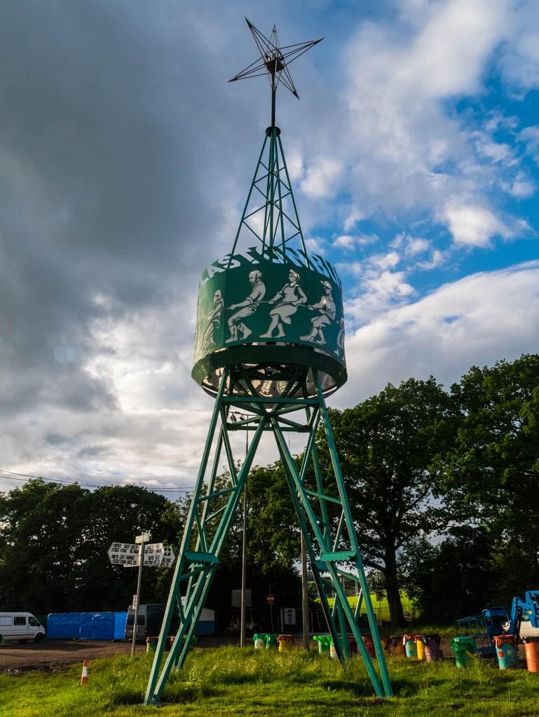 Tony Benn Tower at Glastonbury Festival