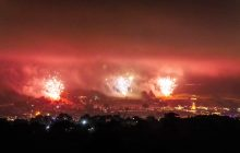 Glastonbury fireworks