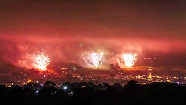 Glastonbury fireworks