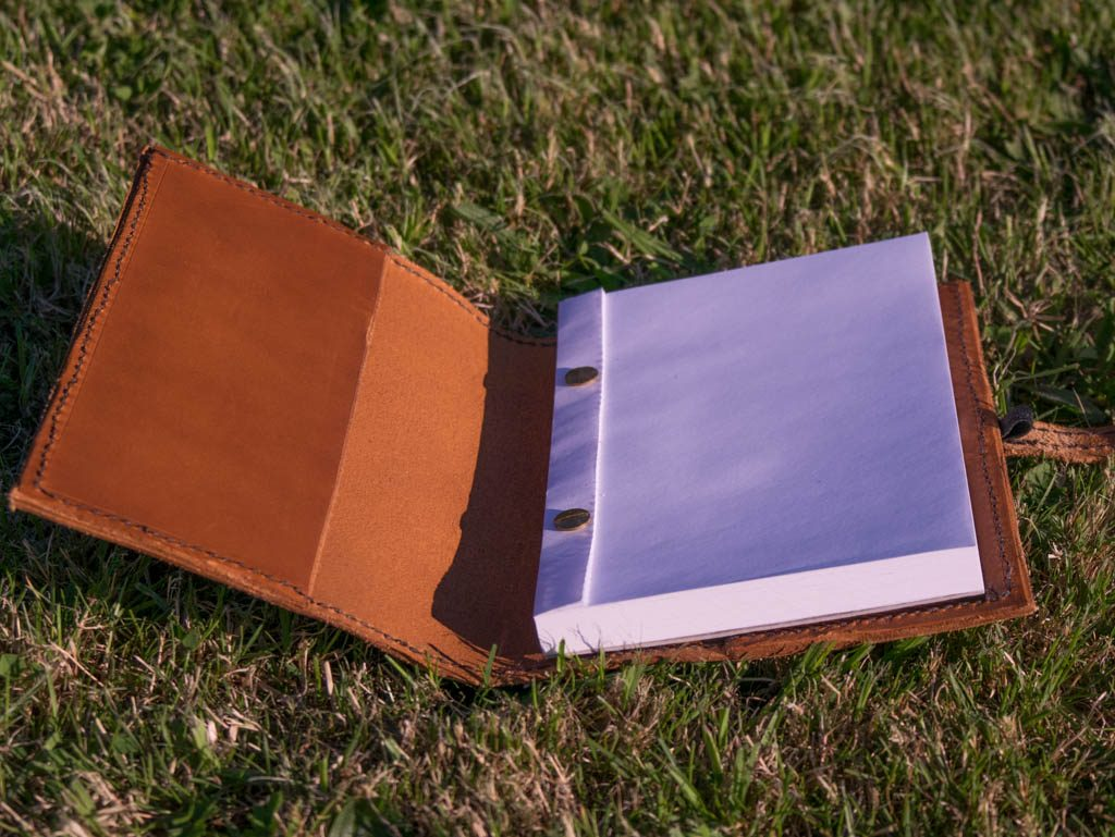 Hand-made leather notebook