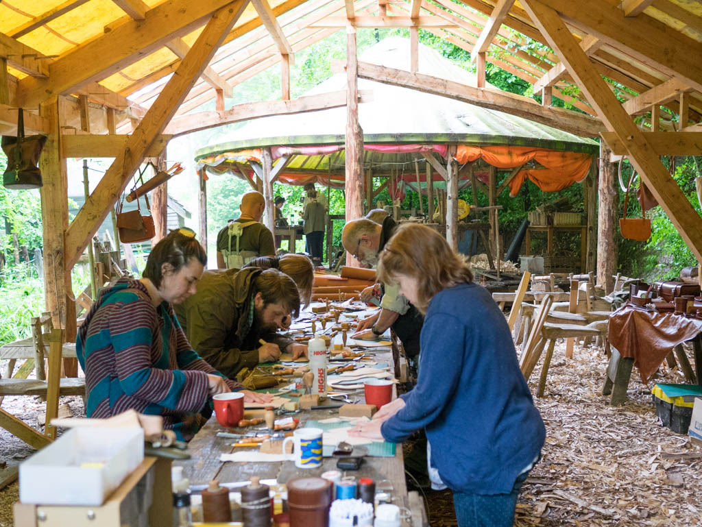 Leatherwork course at The Cherry Wood Project