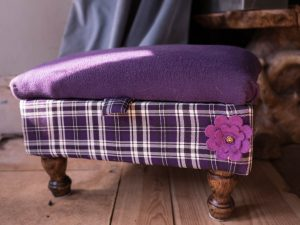 Purple footstool