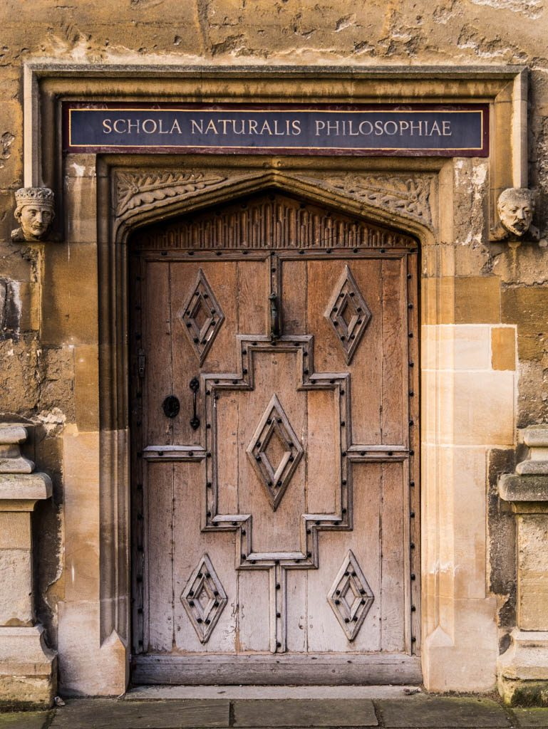 Oxford University College doorway