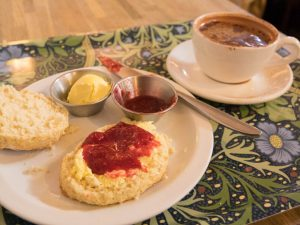 Afternoon tea at the Vaults & Garden cafe in Oxford
