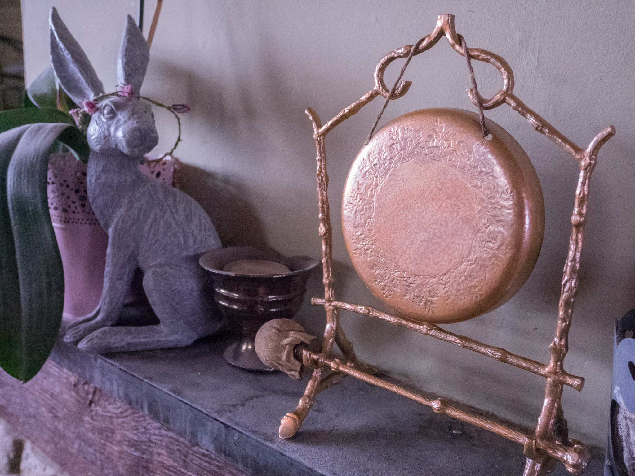 Painting my gong copper
