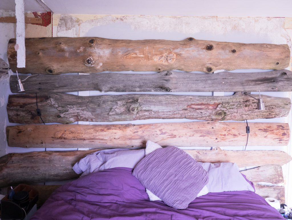 Almost finished rustic headboard