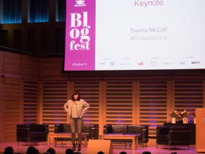 Davina McCall at Blogfest