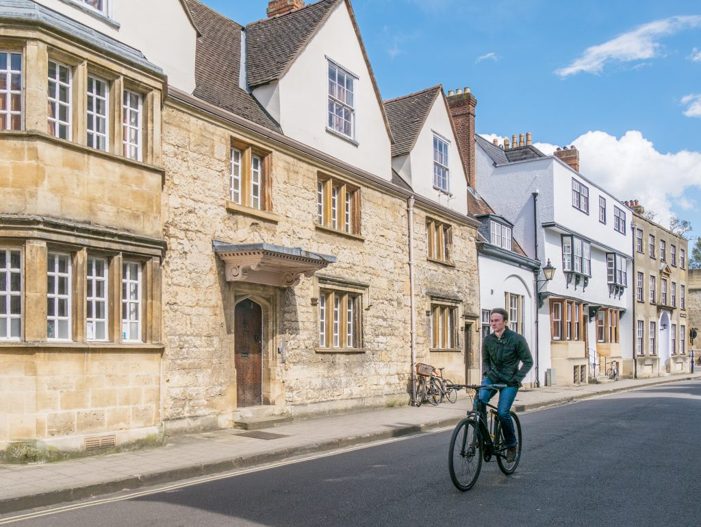 Cyclist in Oxford photo