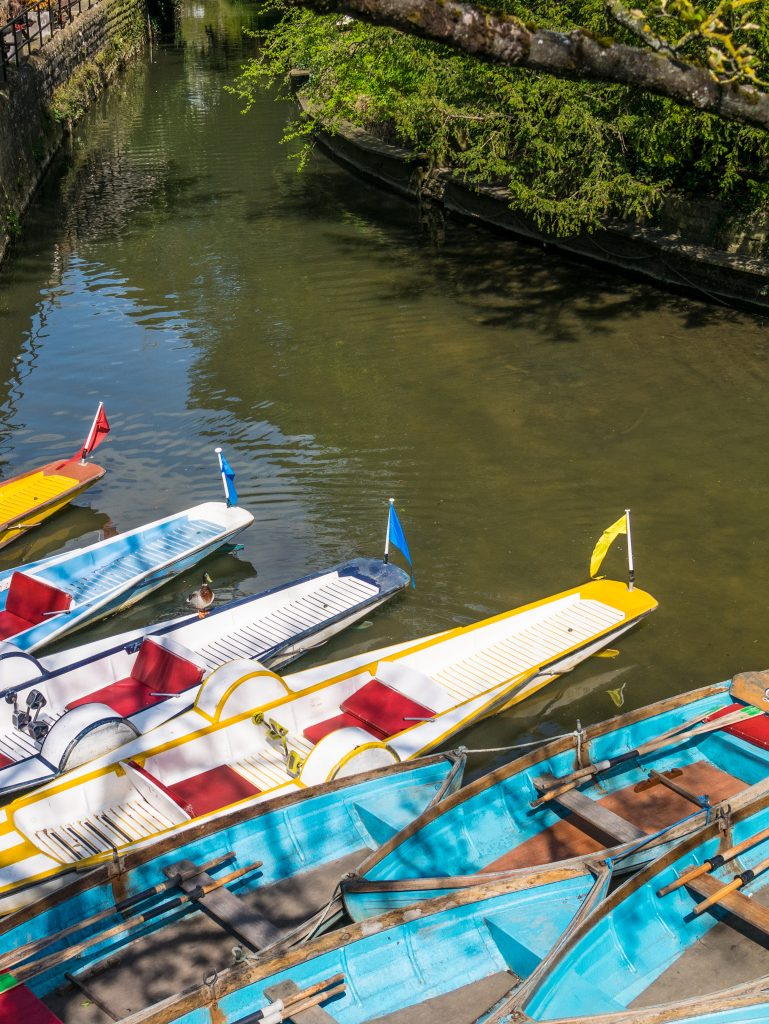 Punting boats on the River Cherwell