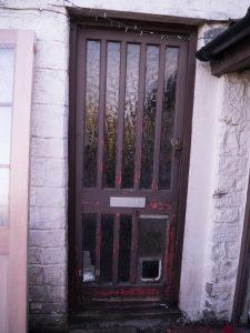 The old back door.