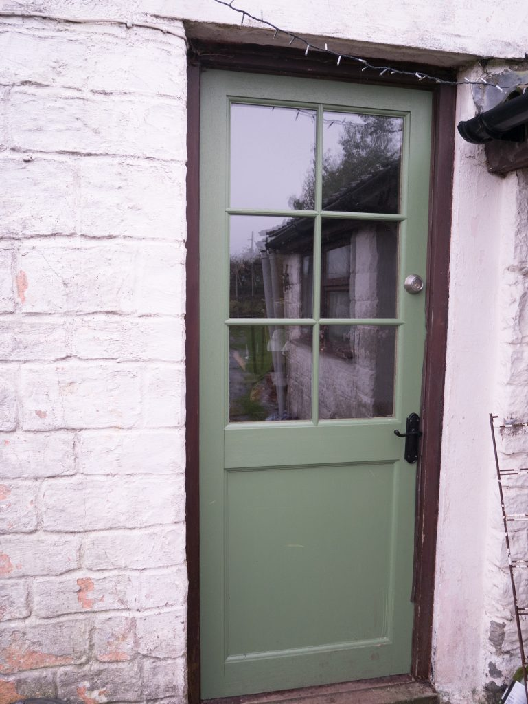 The new door - though now a bit scuffed after Christmas.