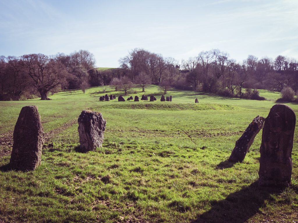 Stone circle at Glastonbury Festival