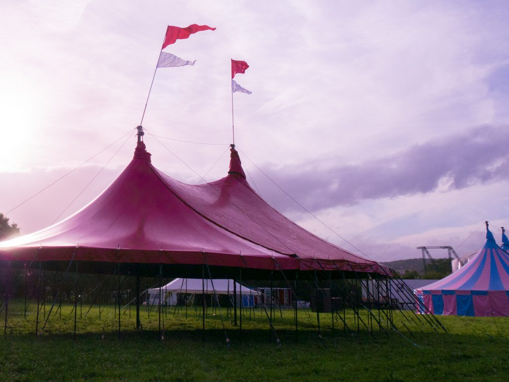 Glastonbury Festival tents