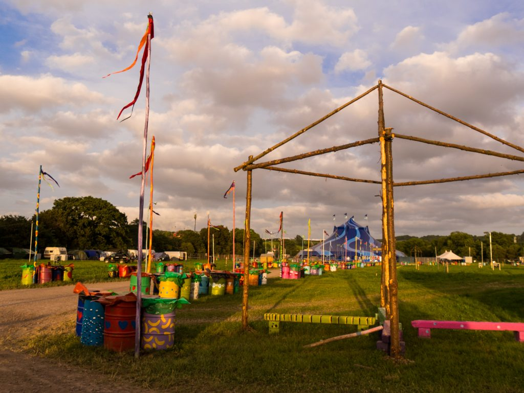 Empty Glastonbury Festival