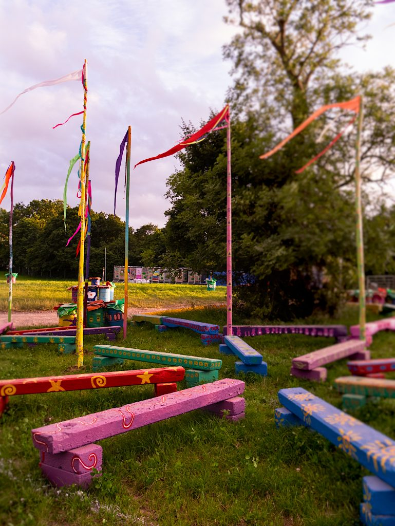 Empty Glastonbury Festival photos