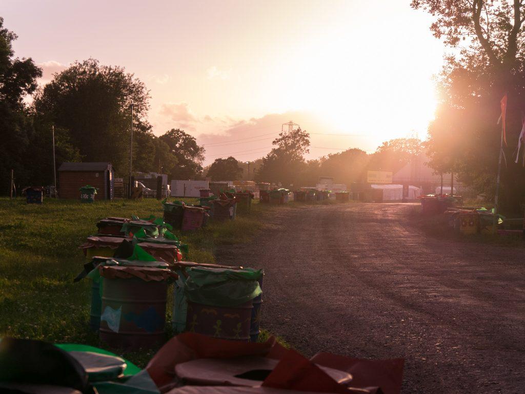Glastonbury Festival bins