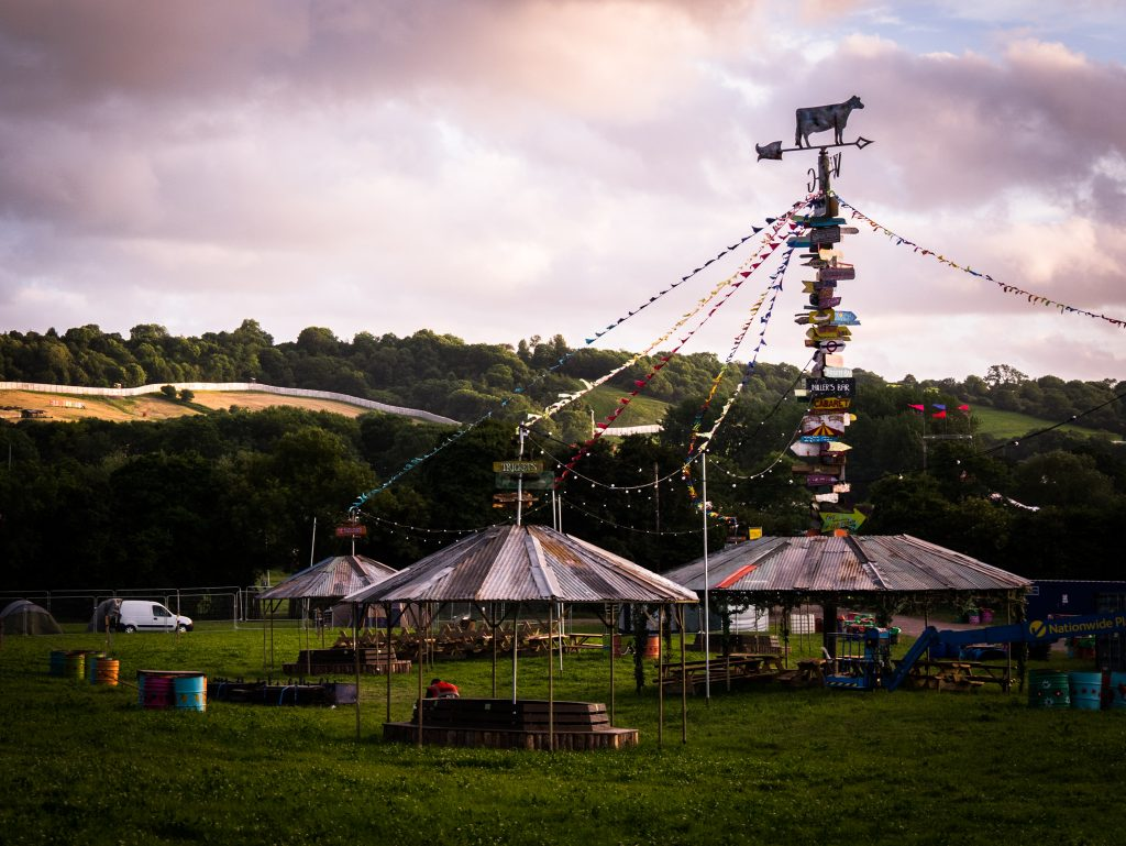 Glastonbury Festival a week before