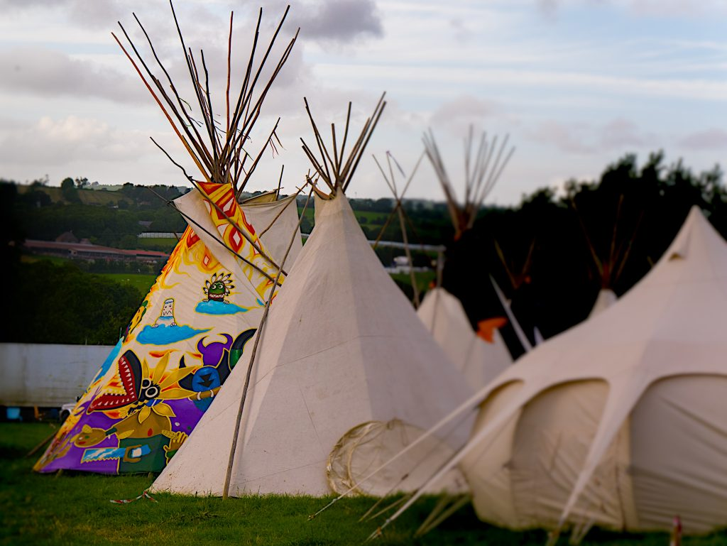 Tipis at Glastonbury