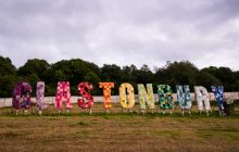 The Glastonbury Festival sign