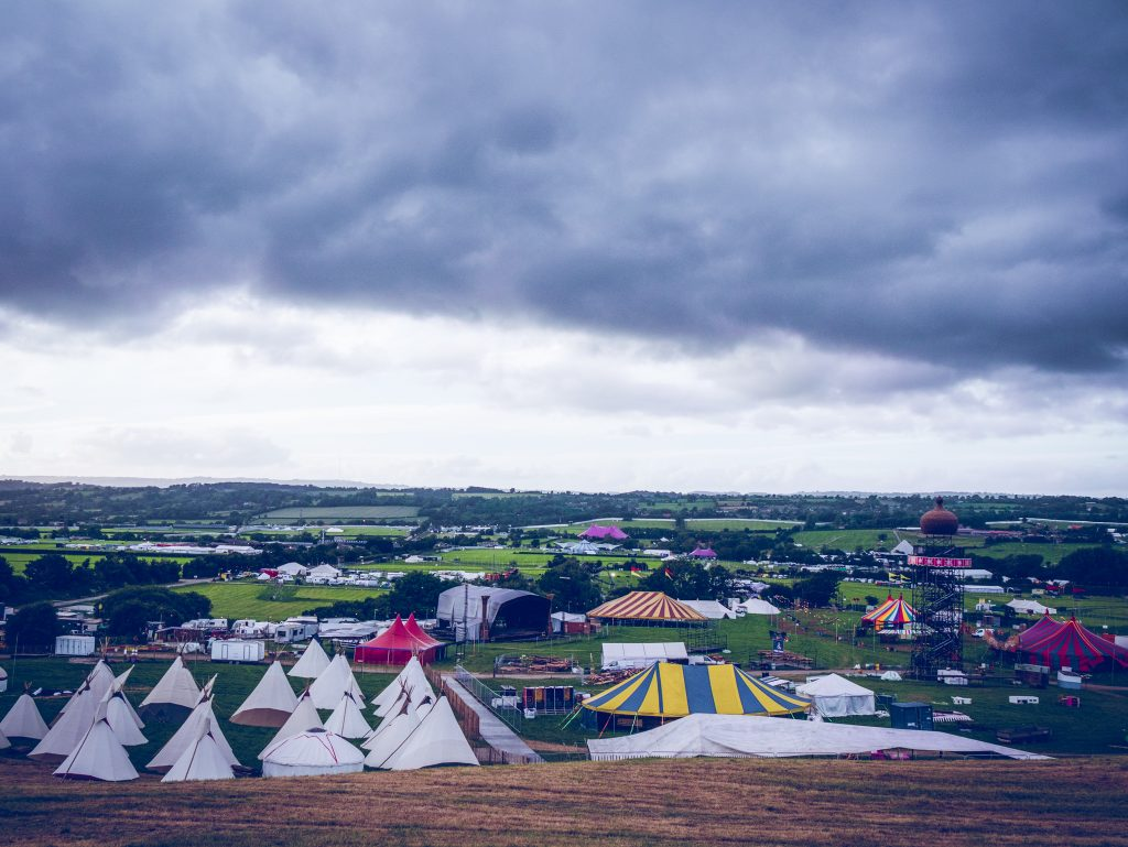 View of The Park at Glastonbury Festival