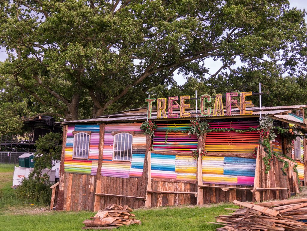 Treehouse cafe at Glastonbury