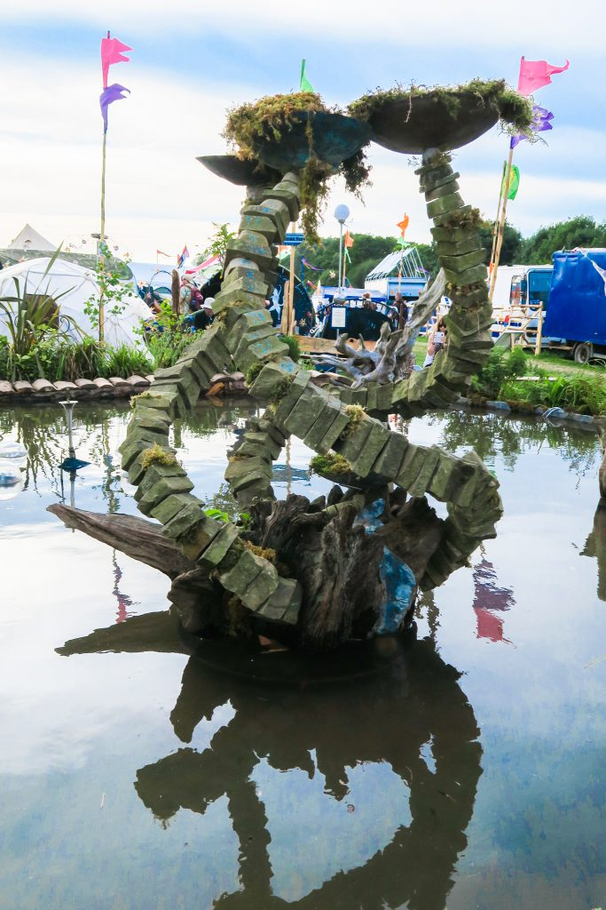 Sculpture at Glastonbury Festival