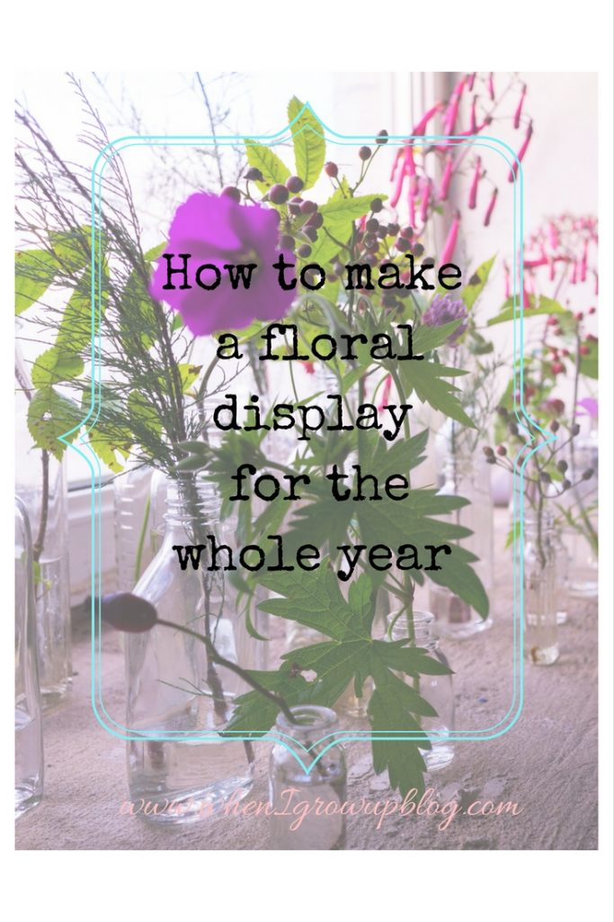 How to make a floral display for the whole year