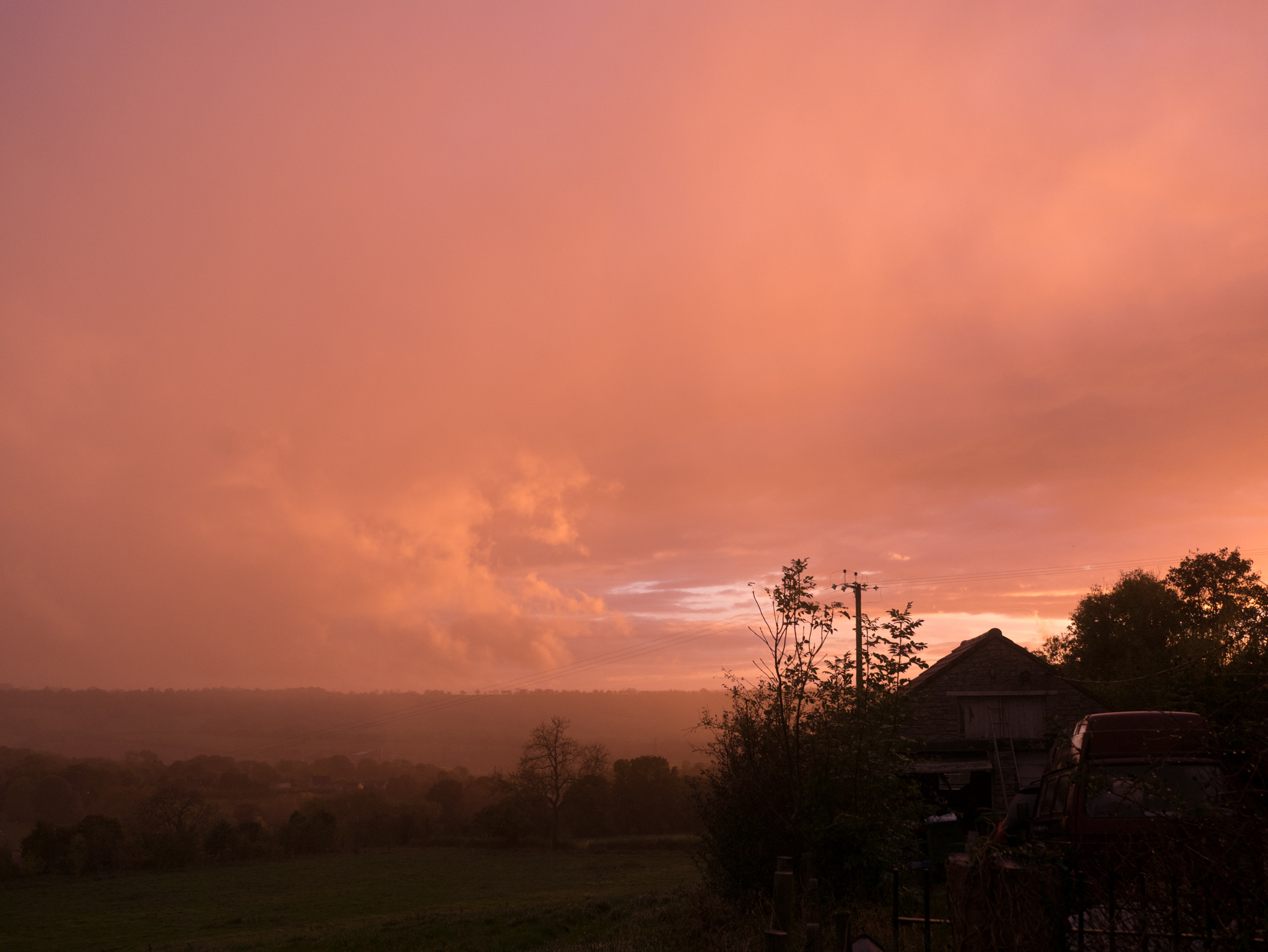 Hurricane Ophelia orange sky