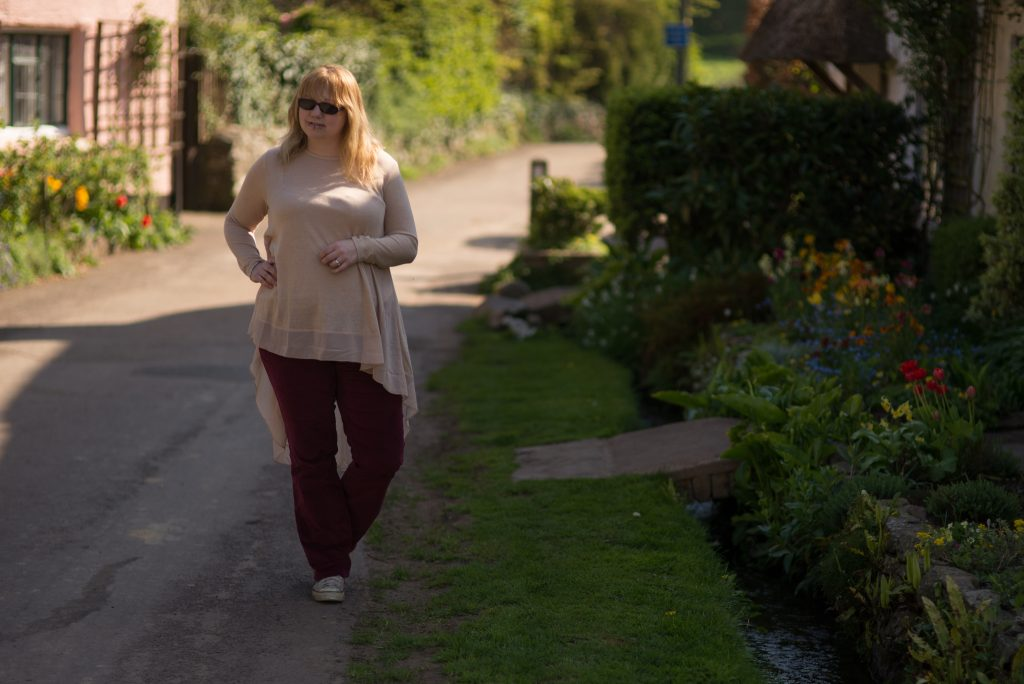Styling red velvet trousers