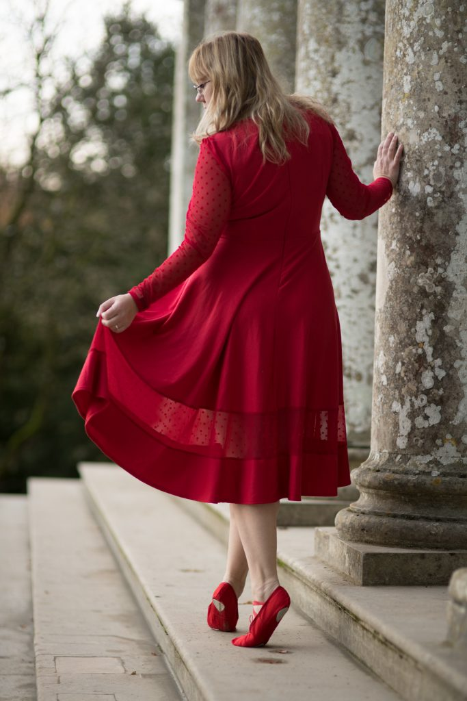 red dress plus size fashion