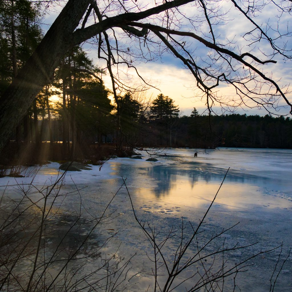 Burr pond state park frozen