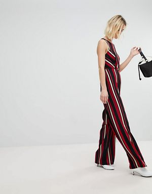 new look stripy jumpsuit