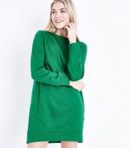 green jumper dress