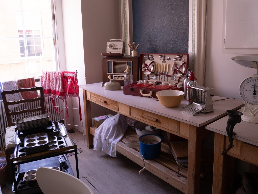 1950's kitchen at Basildon House, places to visit near m4