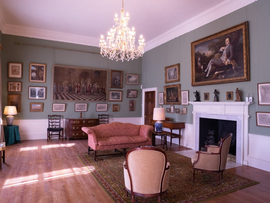 Art gallery room at Basildon Park, National Trust property near Reading