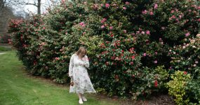 How to style a floral shirt dress; perfect spring fashion