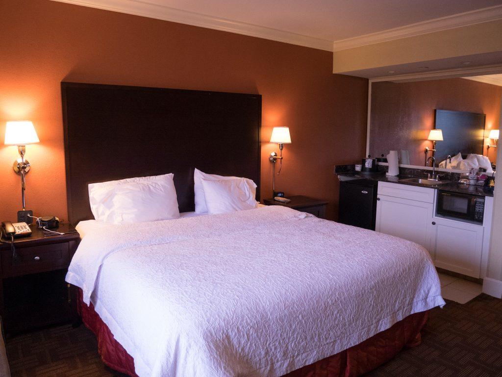Review of Hampton Inn & Suites in Stamford photo of hotel bedroom